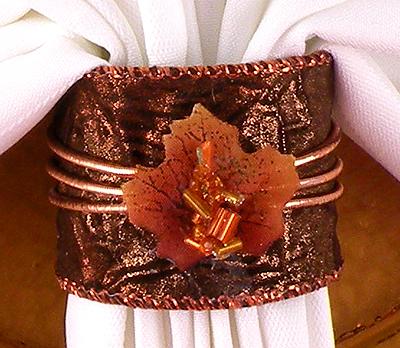 Thanksgiving napkin ring gina tepper for Napkin rings for thanksgiving
