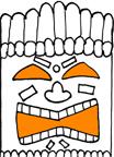 Tissue Box Tiki Faces – Free Pattern – Gina Tepper