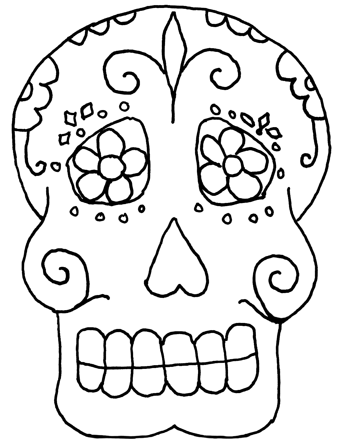 100 Day Of The Dead Coloring