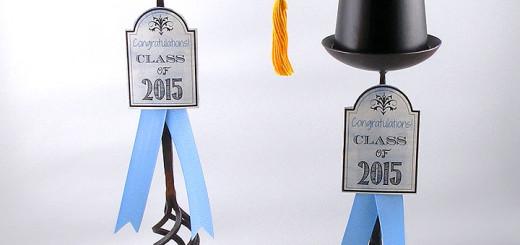 grad-cap-candle-holders