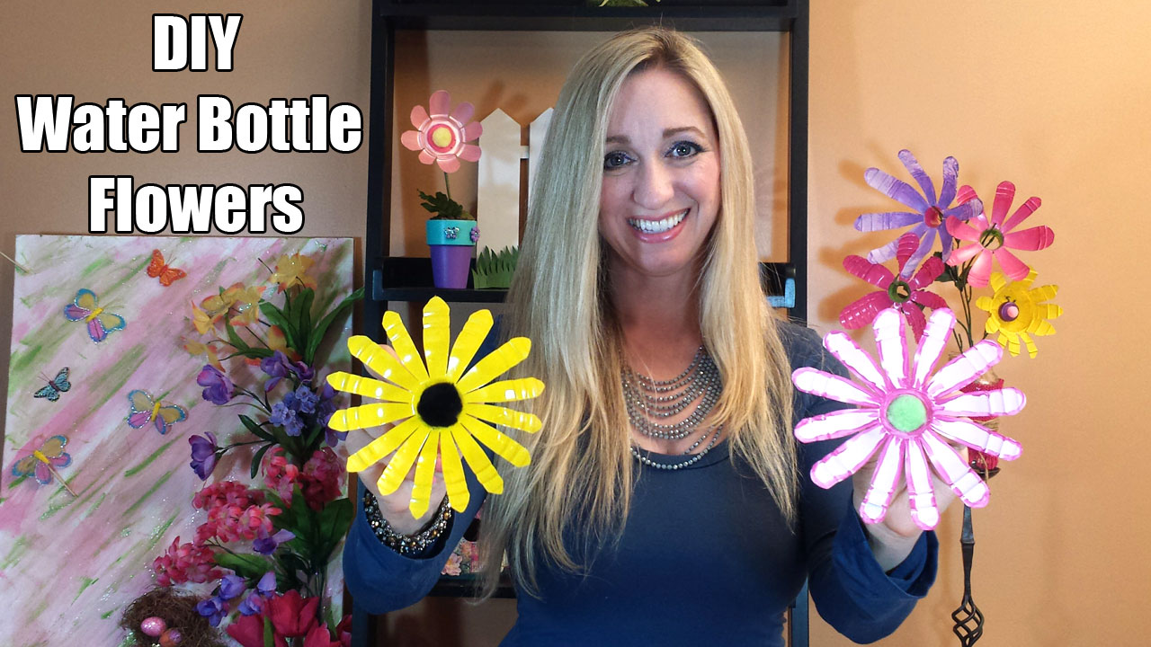 DIY Water Bottle Flowers | Gina Tepper