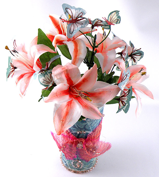 how to paint artificial flowers