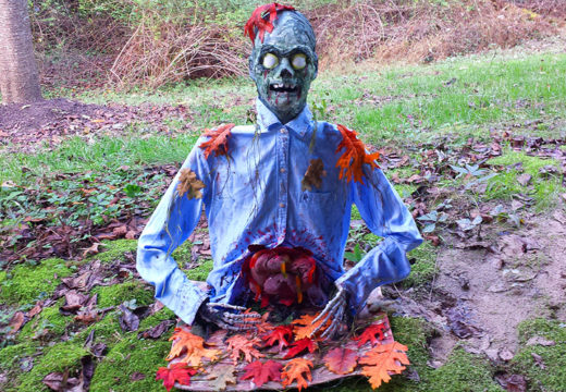 Zombie coming out of the ground decoration.