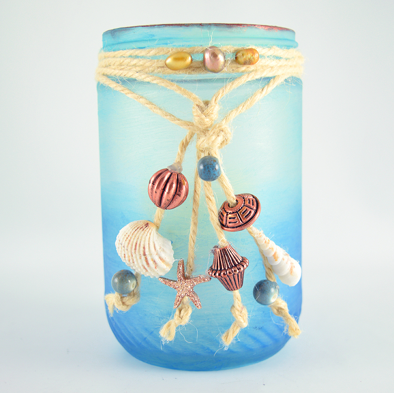 Beautiful Diy Beach Jar Decor Idea Gina Tepper