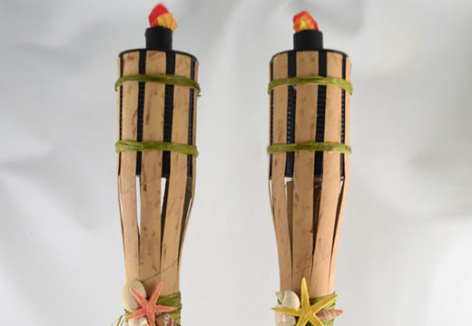Flameless DIY TIki Torches