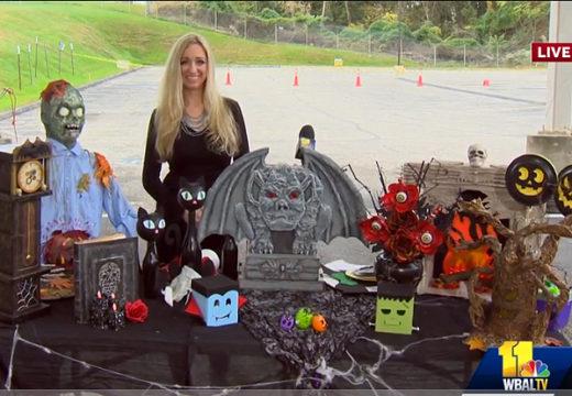 Gina Tepper Halloween TV segment at WBAL
