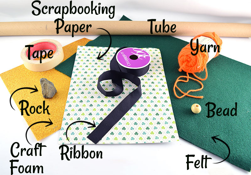 DIY St. Patrick's Day Gnome Materials