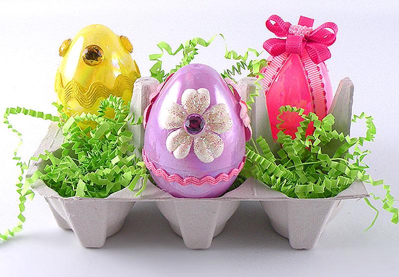decorated plastic eggs