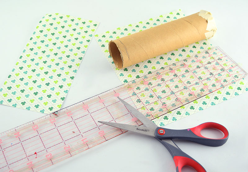 Cover Tube with Scrapbooking Paper