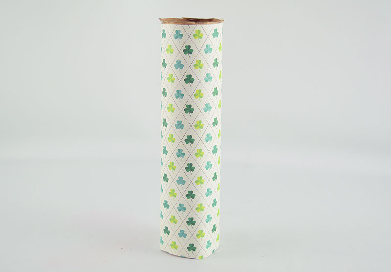 Paper Tube covered in paper