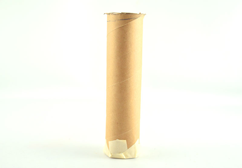 Weighted paper tube