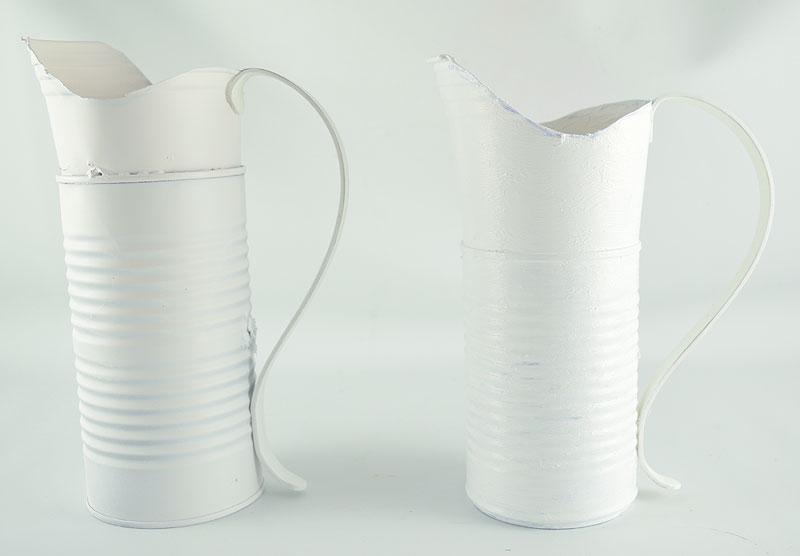 DIY White Pitcher Vase