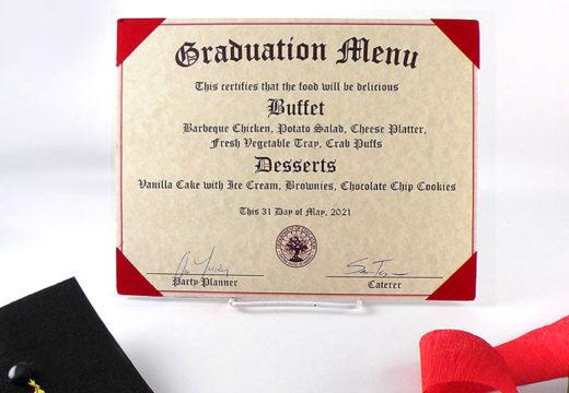 Diploma Menu